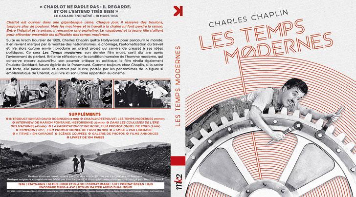 Jaquette Blu-ray Les Temps modernes