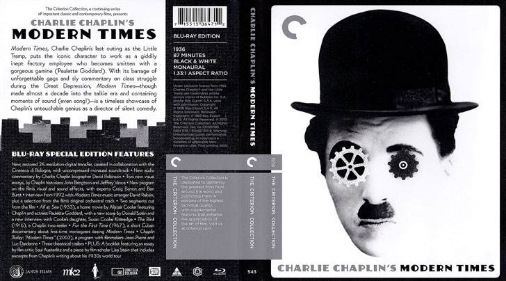 Jaquette Blu-ray Modern Times