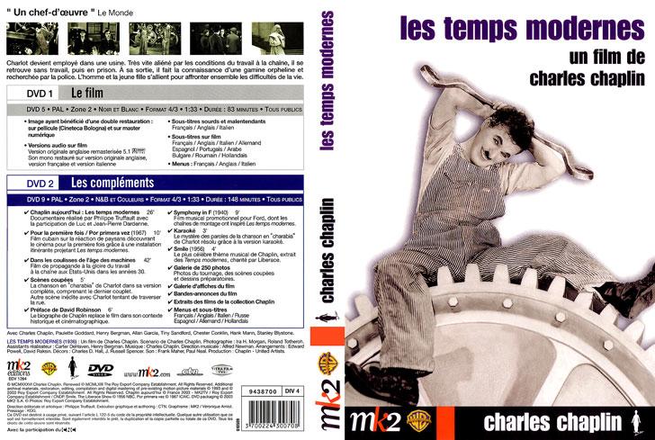 Jaquette DVD Les Temps modernes