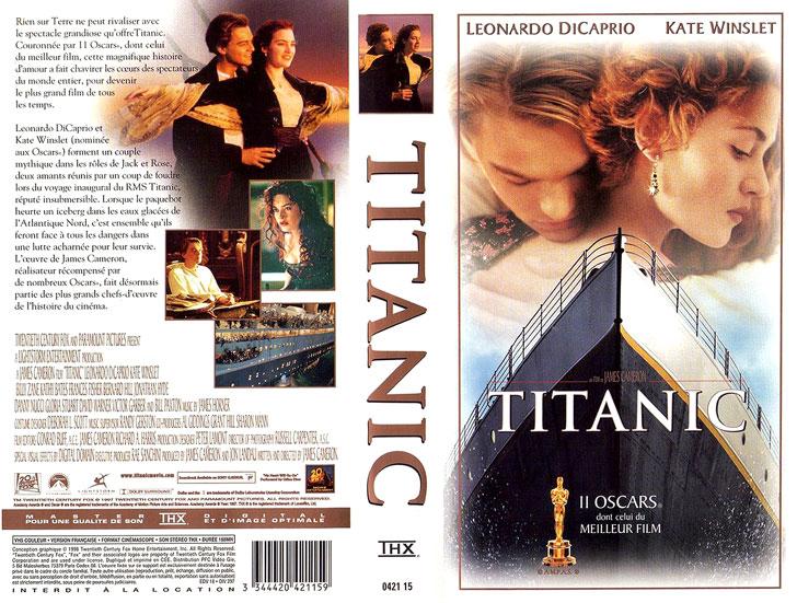 Jaquette VHS Titanic