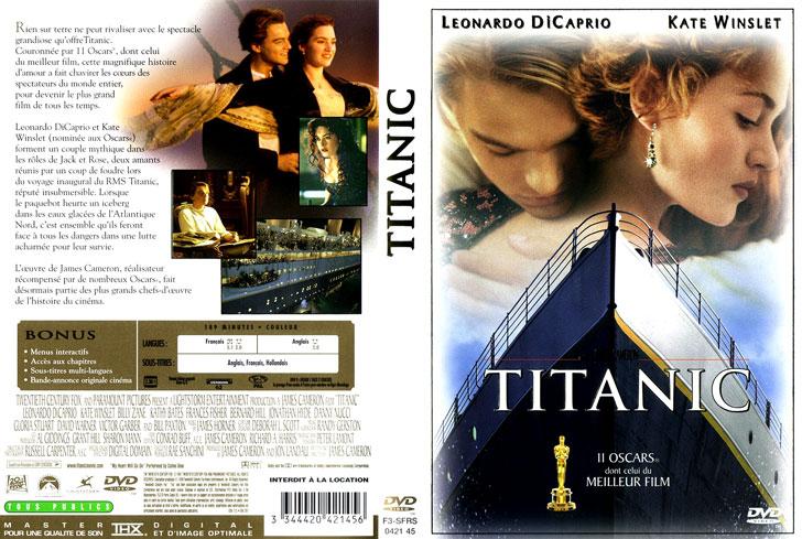 Jaquette DVD Titanic
