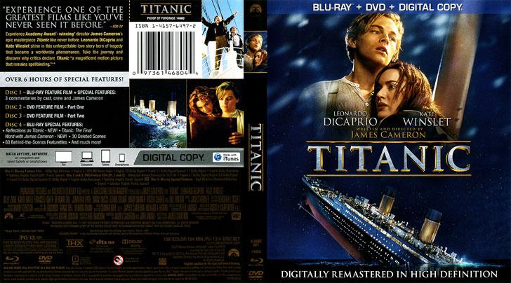 Jaquette Blu-ray Titanic