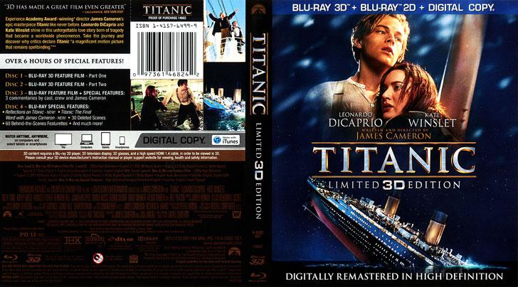 Jaquette Blu-ray 3D Titanic