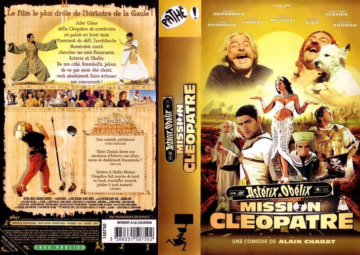 Jaquette VHS Astérix & Obélix : Mission Cléopâtre