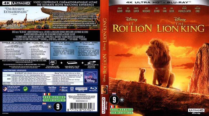 Jaquette 4K Ultra HD Le Roi lion