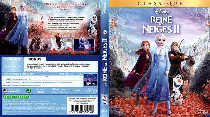 Jaquette Blu-ray La Reine des neiges II