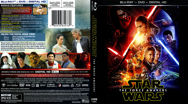Jaquette Blu-ray Star Wars: The Force Awakens