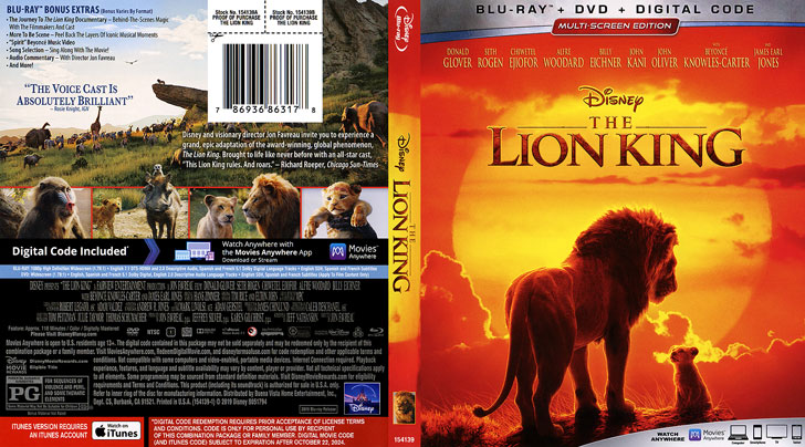 Jaquette Blu-ray The Lion King