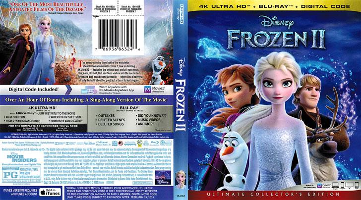 Jaquette 4K Ultra HD Frozen II